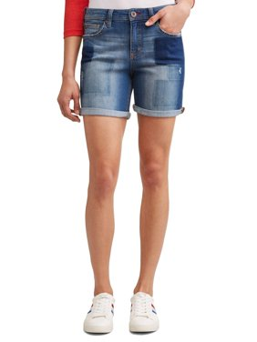 Alex Relaxed Vintage Patchwork Denim Short Women's