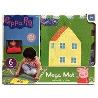JamN' Products - 6 Piece Tile Mega Floor Mat with Vehicle, Peppa Pig