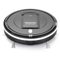 Eyugle Automatic Robot Vacuum Cleaner - Robotic Home Cleaning for Clean Carpet Hardwood Floor, HEPA Pet Hair and Allergies Friendly - Black