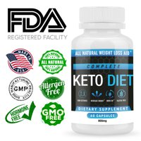 Keto Diet Pills - Weight Loss Supplements to Burn Fat Fast - Shark Tank - Carb Blocker and Energy Booster for Women & Men - Complete Keto Diet - 60 Capsules