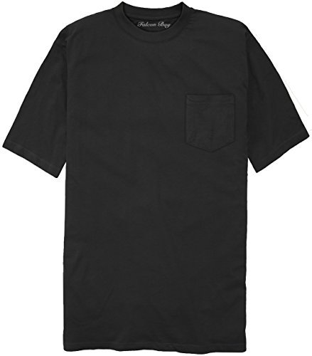 100% Cotton Pocket T-Shirt BLACK 2XLT #481A