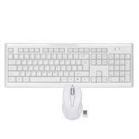 108 Key 2.4GHz Wireless USB Slim Multimedia Keyboard Optical Mouse Bundle White