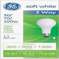 GE SoftWhite Light Bulb 3-Way 30/70/100 Watt 1 ea,