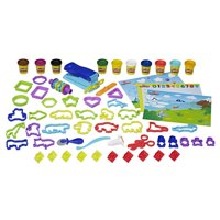 Play-Doh Pre-School FUNdamentals Box Set with 10 Cans of Dough & 50+ Tools in Frustration-Free Packaging