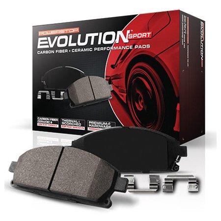 Powerstop Z23-1053 PSBZ23-1053 REAR Z23 EVOLUTION SPORT CARBON FIBER INFUSED CERAMIC BRAKE PADS