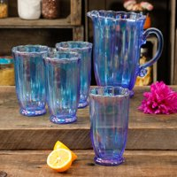 The Pioneer Woman Luster Blue 5-Piece Pitcher and Tumbler Set