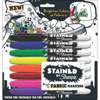 Stained By Sharpie Fabric Markers 8/Pkg-Assorted Colors
