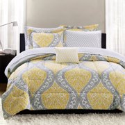 Mainstays Yellow Damask Coordinated Bedding