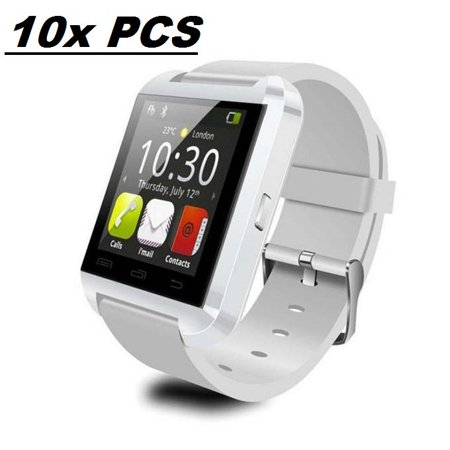 10 Pack U8 White Smart Watch Wholesale Lot Touch Screen Bluetooth Smart Wrist (Wholesale Witch)