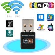 EEEKit 600Mbps Mini Dual Band 2.4/5 GHz Wireless USB WiFi Adapter LAN Network Dongle 802.11ac/a/b/g/n for Laptop Desktop PC Windows XP/7/8/10,Mac OS X System