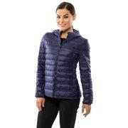 Alpine Swiss Womens Hooded Down Jacket Puffer Bubble Coat Packable Light Parka