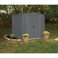 Arrow Low Gable 6x7 Storage Shed, Gray