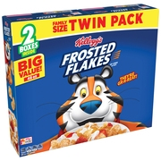 (2 Pack) Kellogg's Twin Pack Frosted Flakes Cereal, Original, 48 oz