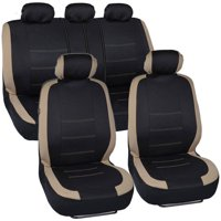BDK Venice Series Car Seat Covers, New Design, Side Airbag Compatible, Split Rear Bench