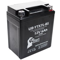 UpStart Battery Replacement 2013 Suzuki TU250X 250CC Factory Activated, Maintenance Free, Motorcycle Battery - 12V, 6Ah, UB-YTX7L-BS