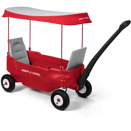 Radio Flyer, Deluxe All-Terrain Pathfinder Wagon with Canopy, Air (Red Wagons Coupons)
