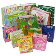 Set Of 12 Gift Bags Birthday Valentines Easter Halloween Bulk Small Lot Handles