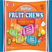 Tootsie Fruit Chews Assorted Fruit Flavored Rolls, 11.5 Oz.