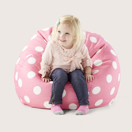 Polka Dot Bean Bag Chair (Big Joe Classic 88 Kids Polka Dot Bean Bag Chair, Multiple Colors )