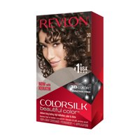 Revlon colorsilk beautiful color permanent hair color, dark brown