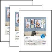 Mainstays 11x14 matted to 8x10 Format Picture Frame, Black, Set of 3