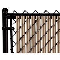 Beige 6ft Ridged Slat for Chain Link Fence