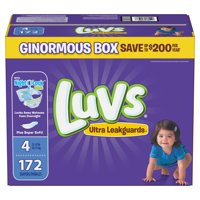 Luvs Ultra Leakguards Diapers Size 4 -172 ct. (22-37 lb.)