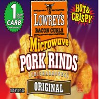 Lowery's Original Microwave Pork Rinds, Chicharrones, Hot and Crispy Protein Snacks, 18 Count