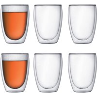 Bodum PAVINA Coffee Mug, Double-Wall, Clear, .35 L, 12 Ounces Each (Set of 2)