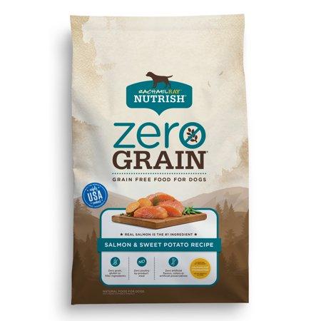 Rachael Ray Nutrish Zero Grain Natural Dry Dog Food, Grain Free, Salmon & Sweet Potato Recipe, 12 (Abound Salmon And Sweet Potato Dog Food)