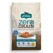 Rachael Ray Nutrish Zero Grain Natural Dry Dog Food, Grain Free, Salmon & Sweet Potato Recipe, 12 lbs