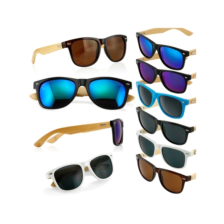 Fashion Vintage Wood Wooden Frame Mens Womens Glass Bamboo Sunglasses (Arms Mens Sunglasses)