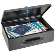 Steelmaster Fire-Retardant Steel Security Box with Key Lock, 2216140BP04