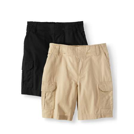 - Essential Denim and Cargo Shorts, 2-Piece Multi-Pack Set (Little Boys & Big Boys)