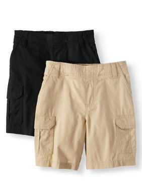 Essential Denim and Cargo Shorts, 2-Piece Multi-Pack Set (Little Boys & Big Boys)