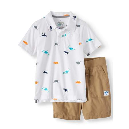 Polo Shirt & Woven Shorts, 2-Piece Outfit Set (Little Boys & Big Boys) for $<!---->