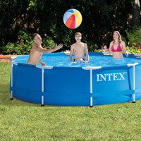 """Intex 10' x 30"""" Metal Frame Above Ground Swimming Pool with Filter Pump"""