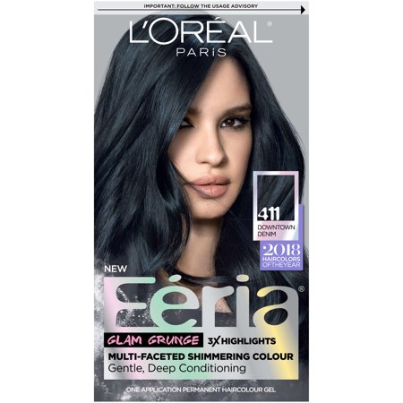 L'Oreal Paris Feria Permanent Hair Color, 411 Downtown Denim