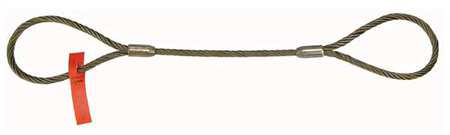 Wire Rope Sling - LIFT-ALL 38EZEEX5 Sling,Wire Rope,5 Ft L,Vert Cap 2200 lb