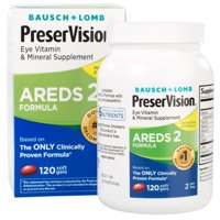(2 Pack) Bausch + Lomb PreserVision AREDS 2 Formula Eye Vitamin Soft Gels, 120 CT Soft Gels