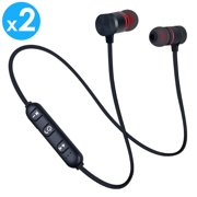 0ef4237b750 2-PACK Afflux Universal Bluetooth 4.0 Wireless Stereo Headset Sports  Earphones In-Ear Earbuds
