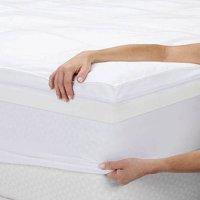 "Sleep Innovations 4"" Dual Layer Memory Foam Mattress Topper"