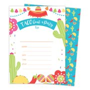 Fiesta 2 Happy Birthday Invitations Invite Cards 25 Count With Envelopes Seal Stickers