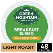 Green Mountain Coffee Breakfast Blend, Keurig K-Cup Pod, Light Roast, 48 Ct