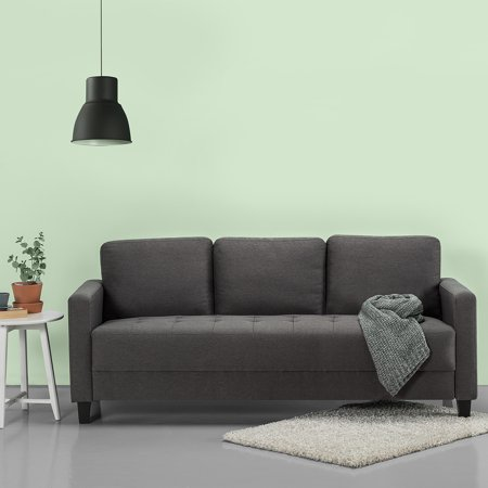 Zinus Sunny Modern Sofa, Steel Grey Weave
