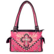 ba248c0ffc Texas West Concealed Carry Shoulder Handbag Western Purse With Rhinestone  Cross In Multi Collections