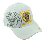 74615acc6e080 U.S United States Navy Retired Military Service White Hat Cap Adjustable  Troops