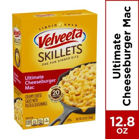 Velveeta Cheesy Skillets Ultimate Cheeseburger Mac Dinner Kit, 12.86 oz