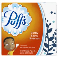 (4 Pack) Puffs, Everyday Non-Lotion Facial Tissues, 1 Cube, 64 Tissues per Cube