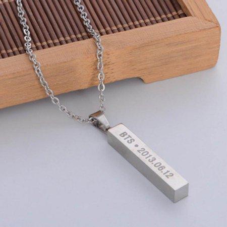 Fancyleo BTS Boys Alloy Pendant Necklace Hot Gift A.R.M.Y, (Hot Color Set Necklace)